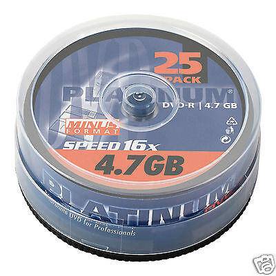 Platinum DVD-R 25er Spindel 16x Speed DVD-Rohlinge 100302