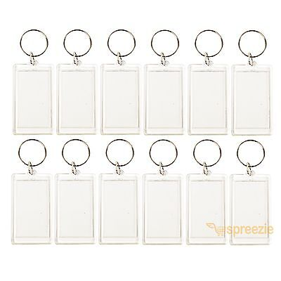 Clear Keychain (Lot of 12 Photo Keychains Blank Clear Acrylic Insert Picture Frame 2
