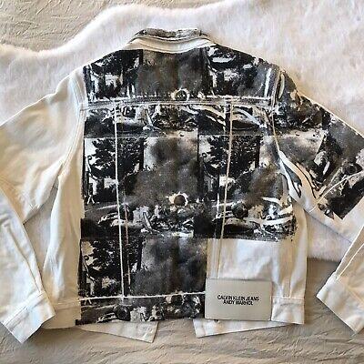 RARE Calvin Klein 205W39NYC Andy Warhol White Denim Jacket