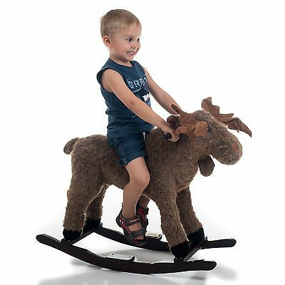 Happy Trails Plush Rocking Max Moose - Great for Kids 3-5