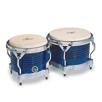 - Latin Percussion LP Matador Wood Bongos Blue Chrome Hardware