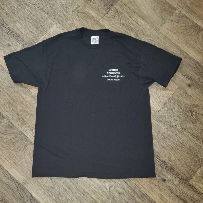 Luther Vandross Never Let Me Go Crew Tour Vintage Men XL T-shirt Single Stitch