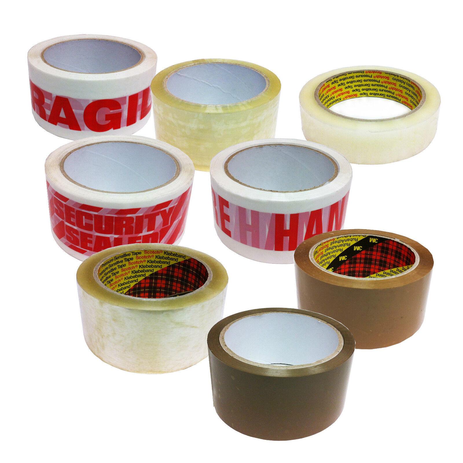 Packing Tape Rolls 50mm 66m GENUINE Scotch 3M  Brown Buff Parcel