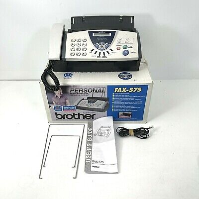 Brother Fax-575 Personal Fax With Phone And Copier - Gently Used - Working