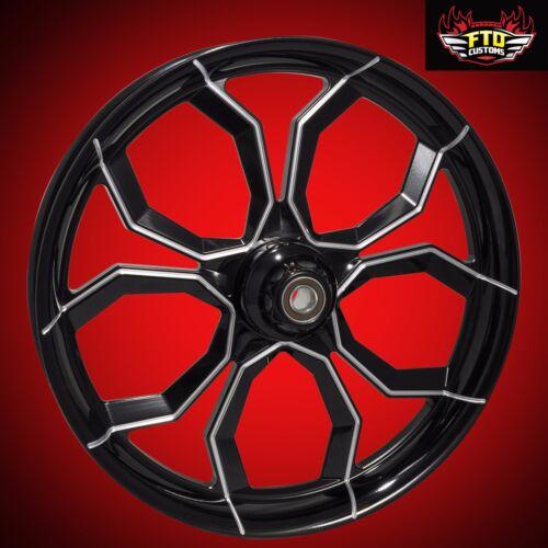"Harley Davidson 30 Inch Black Contrast Front Wheel ""widow"""