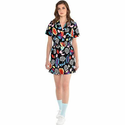 Stranger Things Mall Eleven Costume Adult Size Colorful 80s Romper](Costumes Costumes)