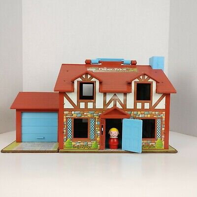 Vintage Fisher Price Little People #952 Tudor Play House / Dollhouse 1969