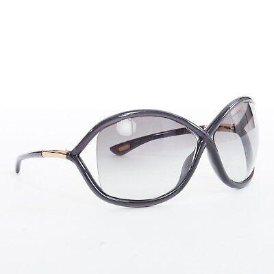 230b4b38be TOM FORD Whitney soft square cutaway lens grey gradient lens sunglasses