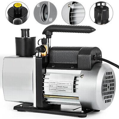 5 Cfm Vacuum Pump Rotary Vane 2 Stage 12hp Hvac Ac Refrigerant Air Conditioning