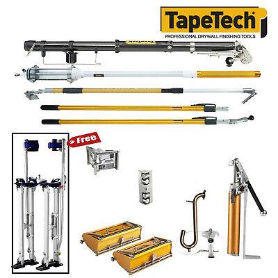 Tapetech Drywall Taping Tools Carbon Taper Pro Full Extender Set W Mudrunner