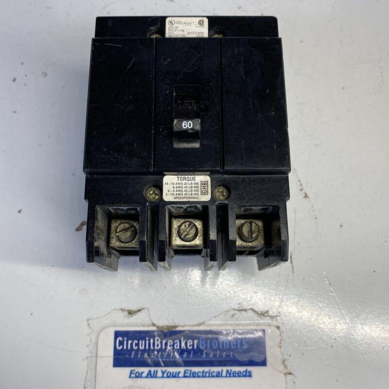 EATON Cutler Hammer GHB GHB3060 3 Pole 60 Amp 480 Volt bolt on Breaker-Tested