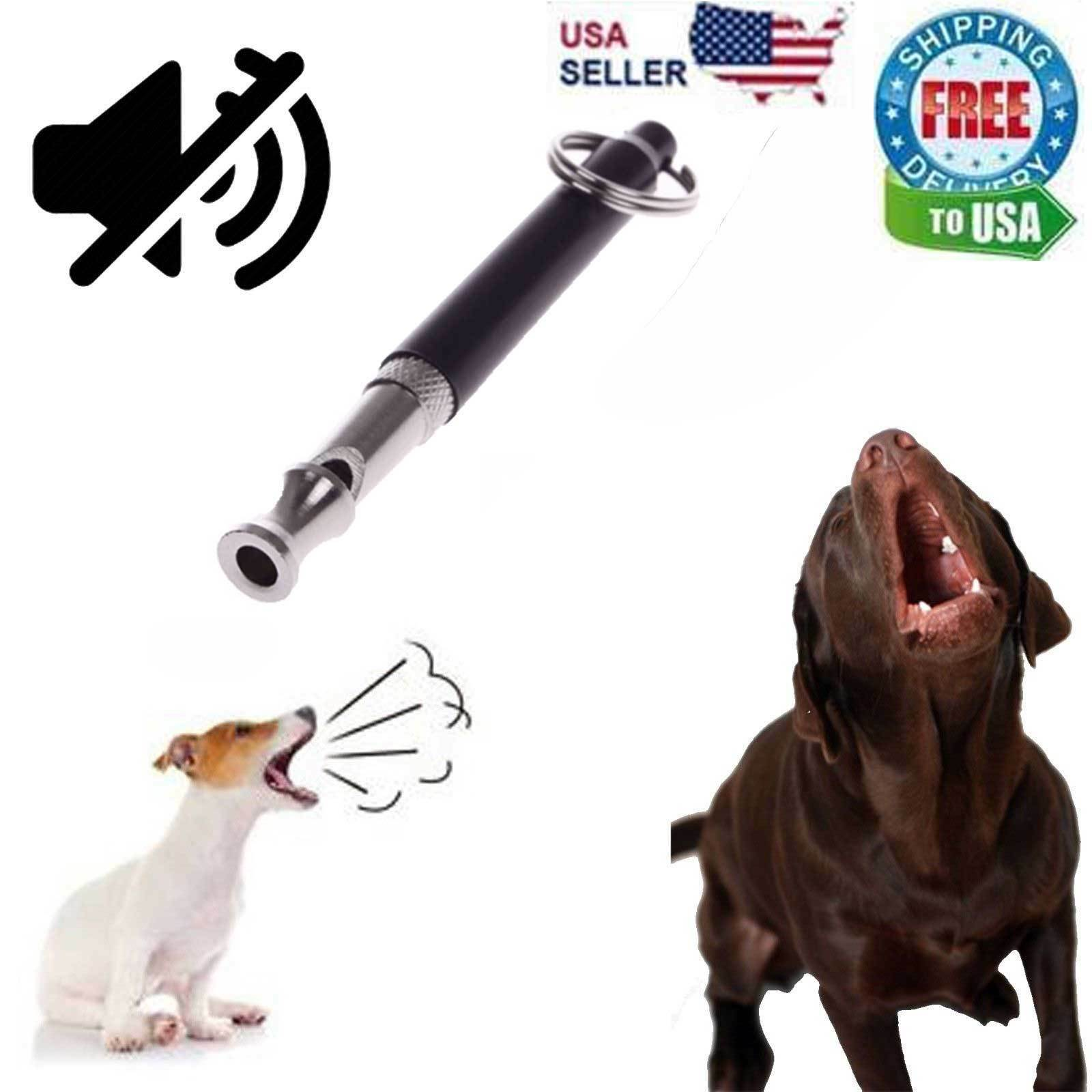 Dog Training WHISTLE UltraSonic Obedience Stop Barking Pet Sound Pitch Black NEW Dog Supplies