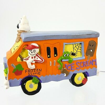 Creepy Hollow Halloween Ice Cream Scream Truck Spooky Van Village Figurine