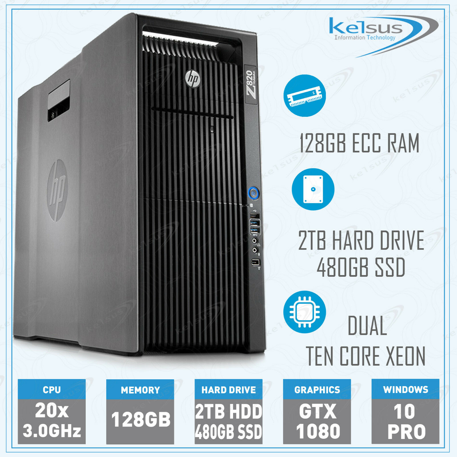 Buy HP Z820 Workstation Dual Xeon Ten Core E5-2690 v2 128GB