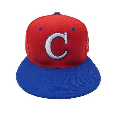 Cuba Adjustable Snap Back Baseball Cap Hat Red Royal