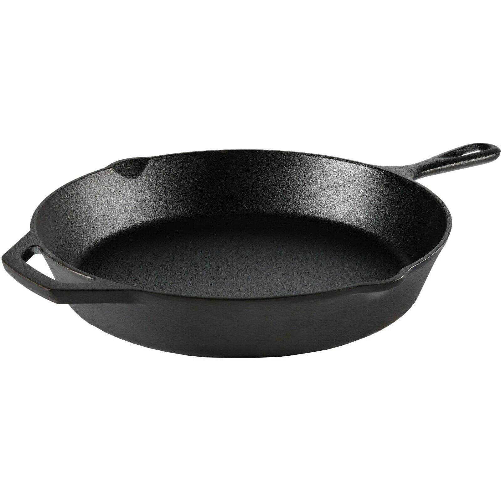 cast iron frying pan skillet pre seasoned