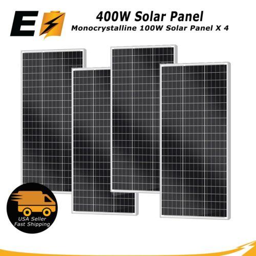 400W 200W 100 Watt Mono. Solar Panel for RV, Boat, Marine, Cabin, and Camping