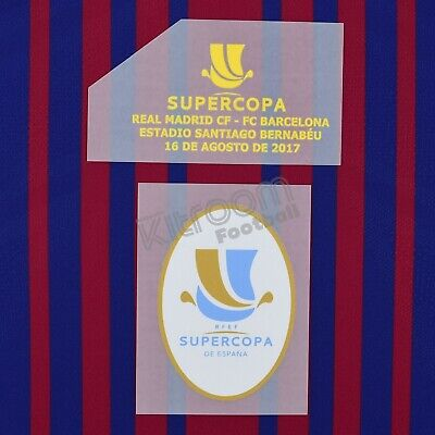 2017-18 Barcelona Supercopa 2017 vs Real Madrid (Bernabeu) Set Player Issue P...