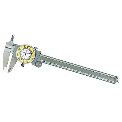 Starrett Stainless Steel White Yellow Dial Caliper 0-6 Fractional Range