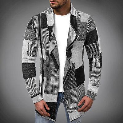 Herren Lange Strickjacke (Strickjacke Pullover Strickpullover Sweater Langarmshirt OZONEE NOR/3503 Herren)