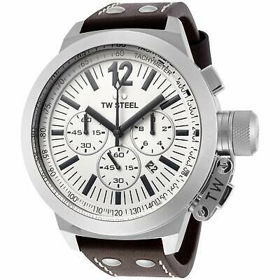NEW TW Steel Men's Canteen Chronograph Leather Band Watch - CE1008