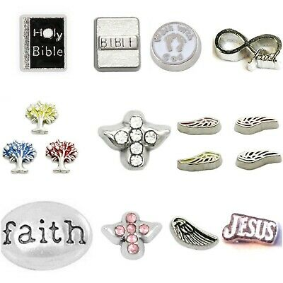 Buy 3,Get 2! RELIGIOUS Floating Charms for Living Memory Floating Locket Faith