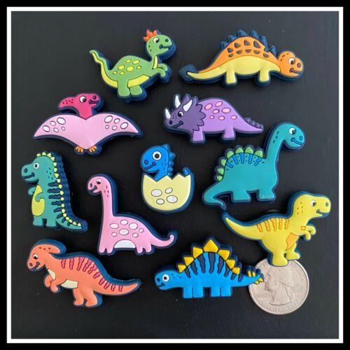 11 Shoe Charms for Crocs DINOSAURS T-Rex Egg Triceratops Pterosaur Stegosaurus