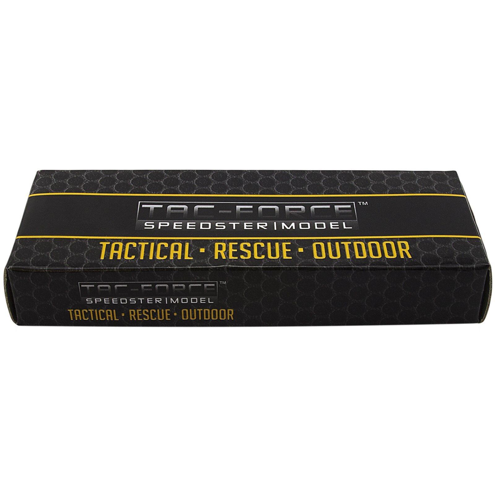 "9"" TAC FORCE Razor Spring Assisted Open Folding Pocket Knife Stonewash New"