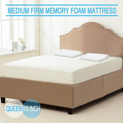 10  Inch Queen Size Cool   Gel Memory Foam Mattress Medium Firm