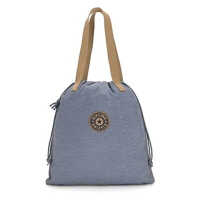 Kipling Small Tote Shopper Bag NEW HIPHURRAY STONE BLUE BL Holiday 2019 RRP £34
