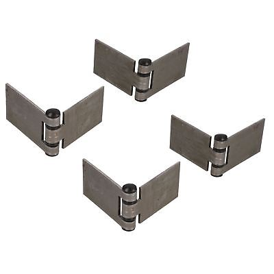 Large Weld-on Hinge Heavy Duty 160x50mm Industrial Door Hatch Locker 4pk