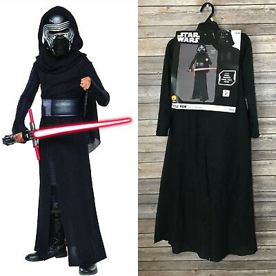 Kylo Ren Costume Child Star Wars Halloween Dress Rubies 620091 Disney S 4-6 NWT