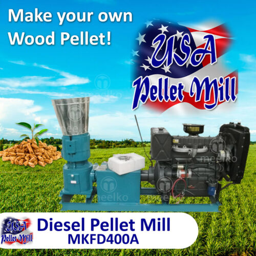 Diesel Pellet Mill For Wood- MKFD400A - USA