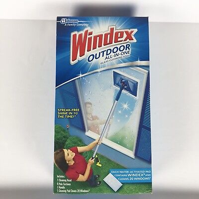New Windex Outdoor All In One Glass Cleaning Tool Kit Window
