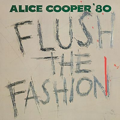 ALICE COOPER FLUSH THE FASHION LIMITED GREEN SWIRL VINYL LP (2018)