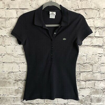 Lacoste Women's Navy Blue Short Sleeve Polo Top Size 36 XS/4