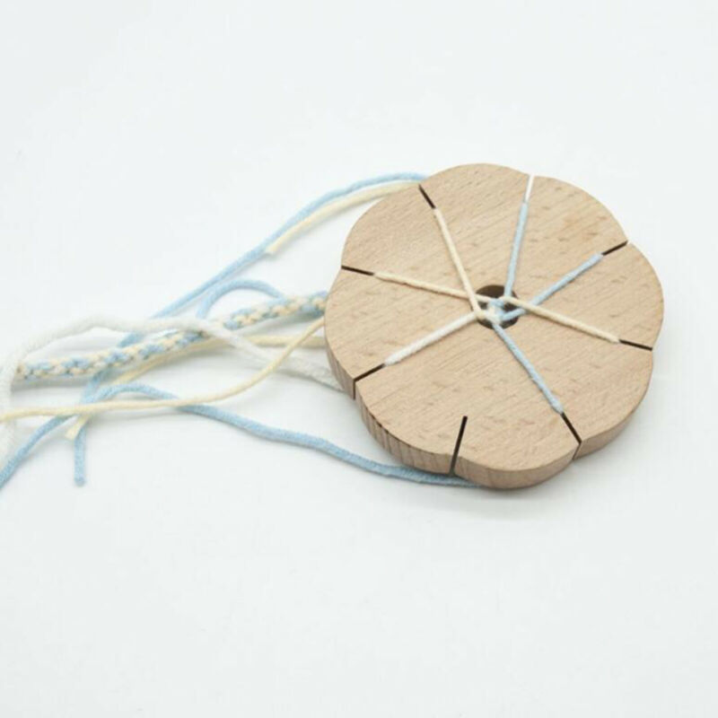 Wooden+Round+Braiding+Disk+Plate+Kumihimo+Disk+for+Jewelry+Making