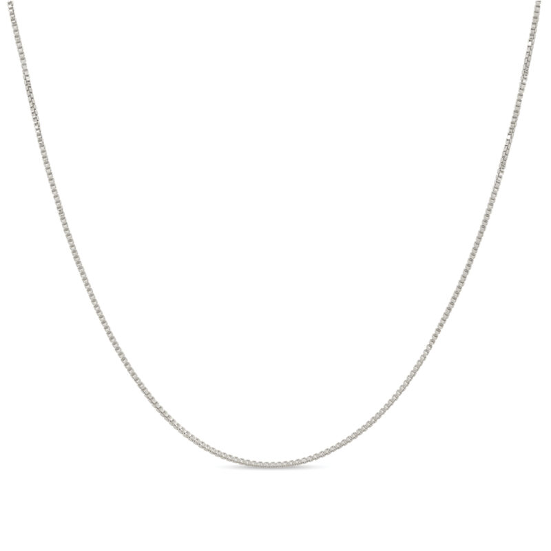 Solid .925 Sterling Silver 1mm Box Chain Necklace 12 - 40 inches