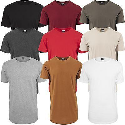 Basic Tee (URBAN CLASSICS SHAPED LONG TEE Basic T-Shirt extra lang Jersey Regular Oversize)