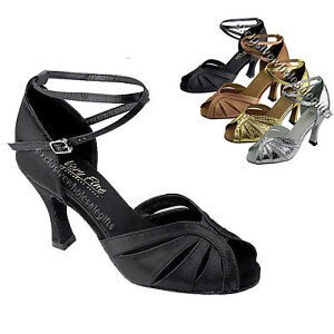 Women's Salsa Ballroom Tango Latin Dancing Dance Shoes 2.5 / 3