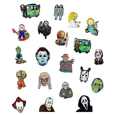 Halloween Film Jason (Horror Movie Collection Chucky Jason Freddy Halloween Pendant Lapel Hat)