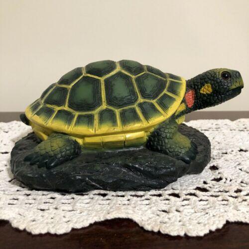 VERY RARE VINTAGE Art Line Inc. PAINTED TURTLE / TORTOISE Figurine 03674 ArtLine