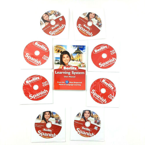 Berlitz Learn To Speak Spanish Premier WIN or MAC 4 CD Foreign Language Spanish
