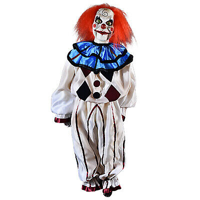 Adult Mary Shaw Dead Silence Scary Clown Halloween Home Decoration Prop Puppet - Scary Clown Props