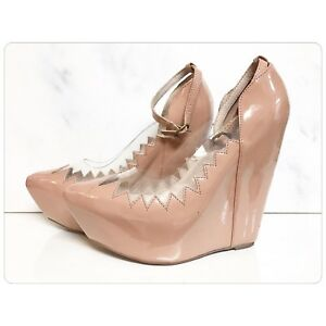 Jeffrey Campbell Audrey in Patent Beige - BN
