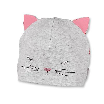 Sterntaler Mädchen Jersey Beanie UV-Schutz 50+ Katze grau melange (Baby Beanie Grau)