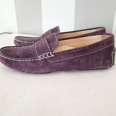 cole haan  shoes suede  Leather sz 6.5 b  purple FLATS moccasins P  Leather Suede Moccasins