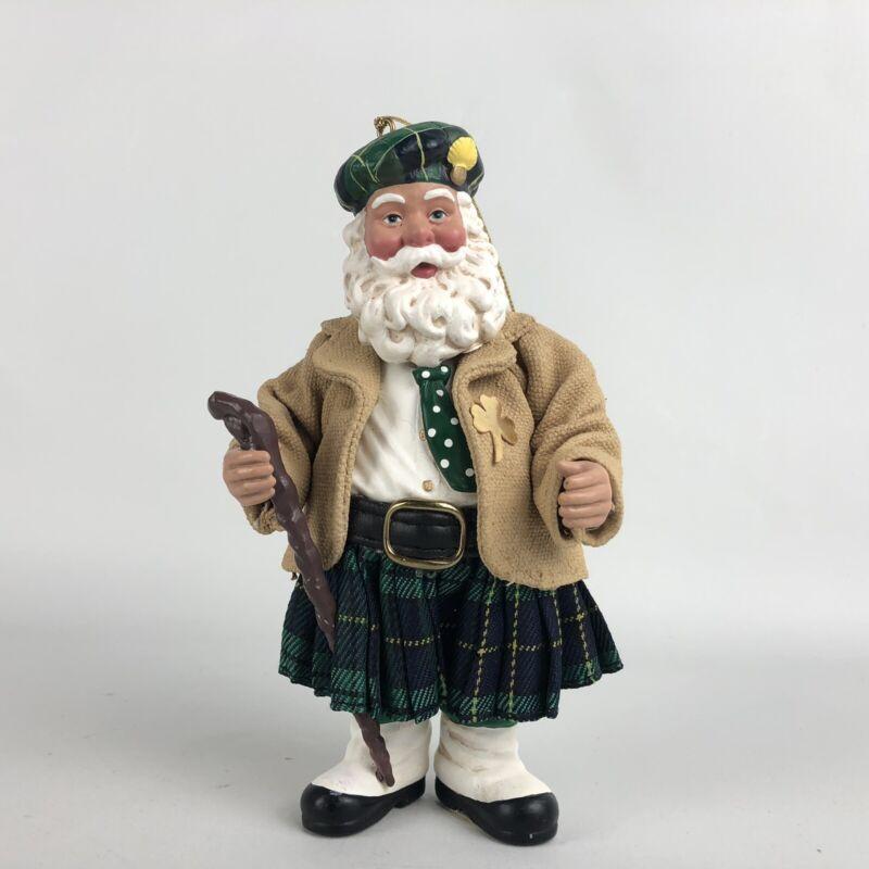 Vintage Possible Dreams Clothtique Santa Christmas Figurine Ornament Irish 2000