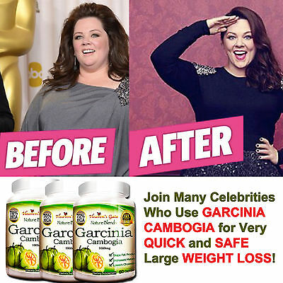 3 Pack Garcinia Cambogia Pure 1000 Mg Natural Weight Loss 70  Hca Diet Burn Fat