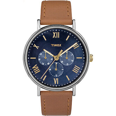 Timex Southview Multifunction 41mm Leather Strap |Tan| Dress Watch TW2R29100 ()